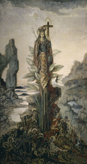 Mystic Flower, Gustave Moreau (16X30)