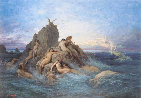 Naiads of the Sea, Gustave Dor�