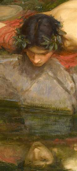 Narcissus (detail), John William Waterhouseterhouse