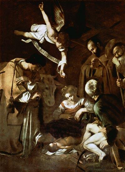 Nativity, Caravaggio (16X18)