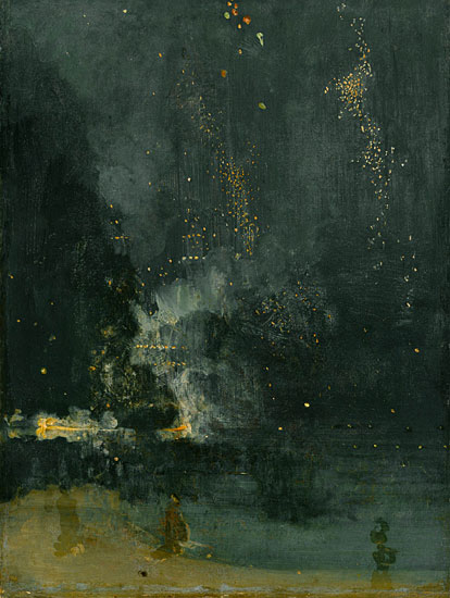 Nocturne in Black and Gold, James McNeal Whistler (15.5X22)