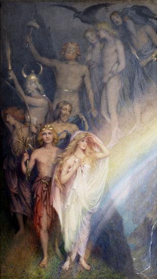 The Northern Gods Descending, William Gersham Collingwood, (13.5X24)