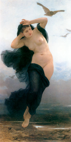 Night (Nuit), William-Adolphe Bouguereau (16X31.5))