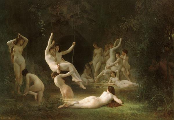 Nymphaeum, William-Adolphe Bouguereau (22X32)