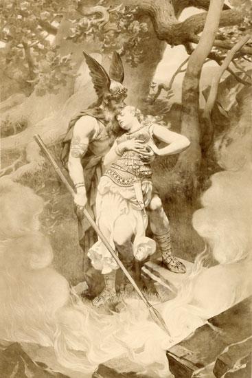 Odin's Farewell to Brunhilde, Dielitz (16X24)