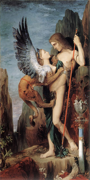 Oedipus and the Sphinx, Moreau (20X40)