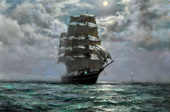 Off the Wolf, Montague Dawson