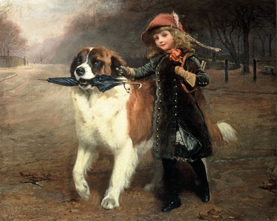 Off to School, Charles Burton Barber (16X20)