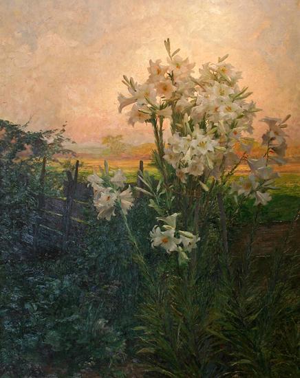 Lilies, Olga Wisinger (17.5 X 22)