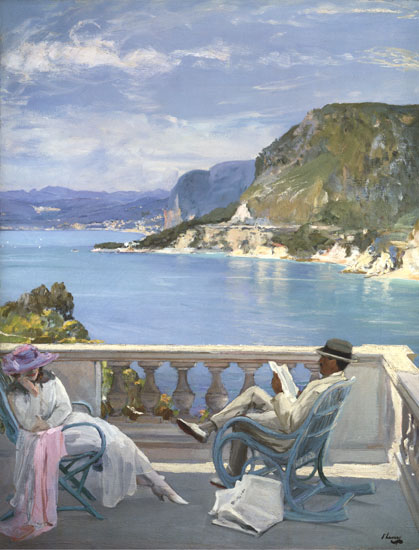 On the Riviera, Sir John Lavery (16.75X22)