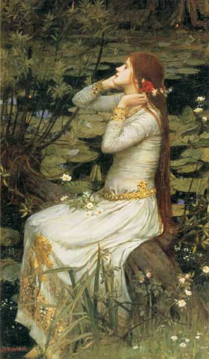 Ophelia, Waterhouse (16X27.5)