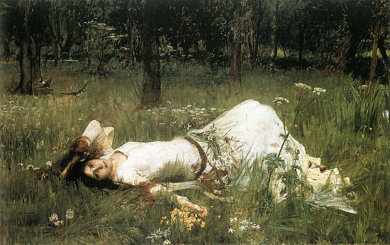 Ophelia-1889, Waterhouse (16X25.5)