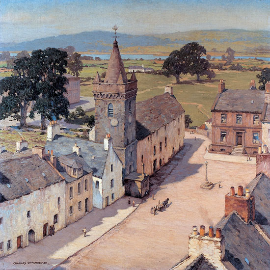 From a Tower, Kirkcudbright, Charles Oppenheimer (20x20)