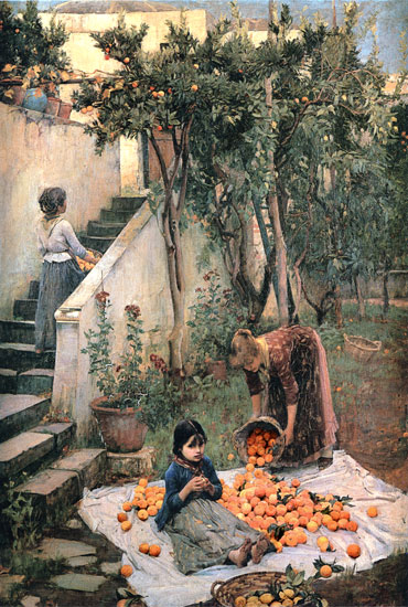 The Orange Gatherers, Waterhouse (16X23.75)