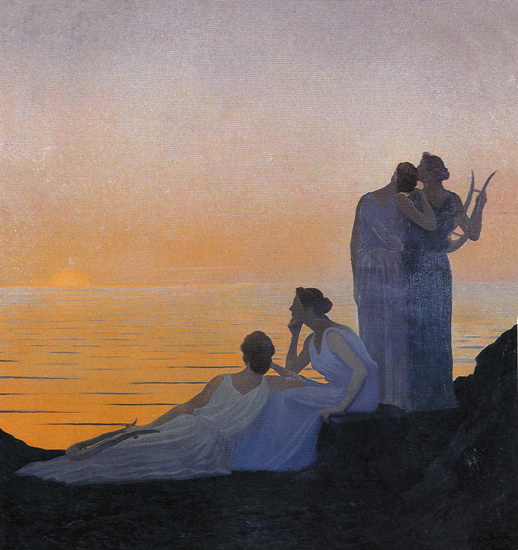 Ancient Evening, Alphonse Osbert  , Gustave Moreau