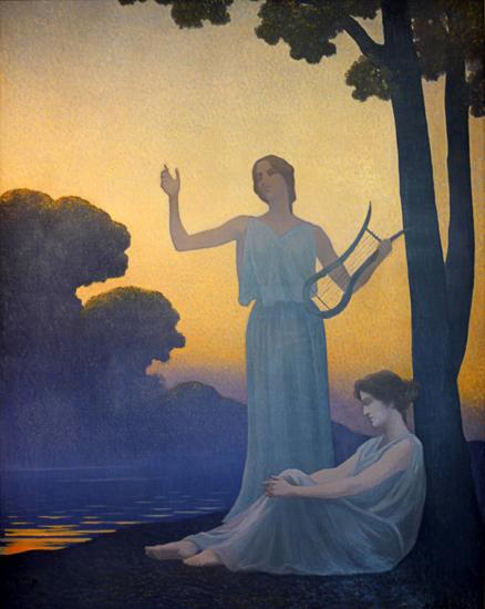 Evening Song, Alphonse Osbert (17.5X22)