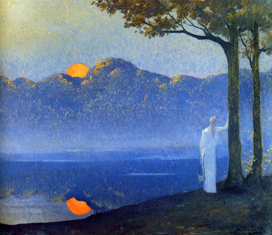 Muse at Sunrise, Alphonse Osbert (19X22)