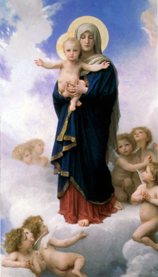 Our Lady  of the Angels, William-Adolphe Bouguereau, (16X28)