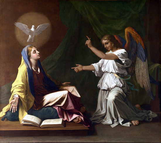 The Annunciation, Nicolas Poussin