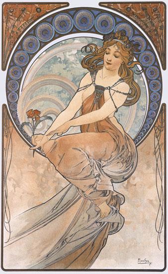 Painting, Alphonse Mucha