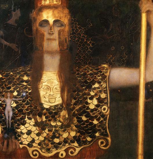 Pallas Athene, Gustav Klimt (18X18.75)