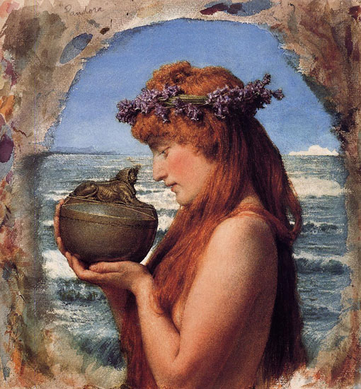 Pandora, Sir Lawrence Alma-Tadema (20.4X22)