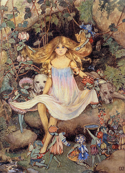 Pansy and the Fairies, Mary Elizabeth Atkins (16X22)