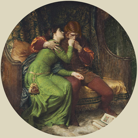 Paolo and Francesca, Sir Frank Dicksee (16X16)