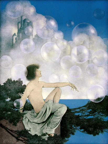 Air Castles, Maxfield Parrish (16.5X220