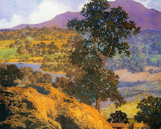 New Hampshire Hills, Maxfield Parrish  (16.6X22)