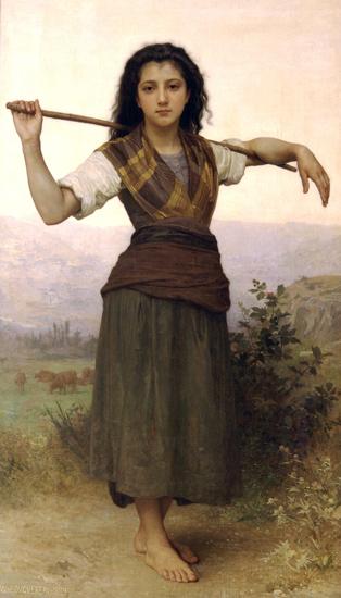 Pastourelle, Bouguereau (16X28)