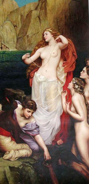 Pearls of Aphrodite, Herbert James Draper (16X33)