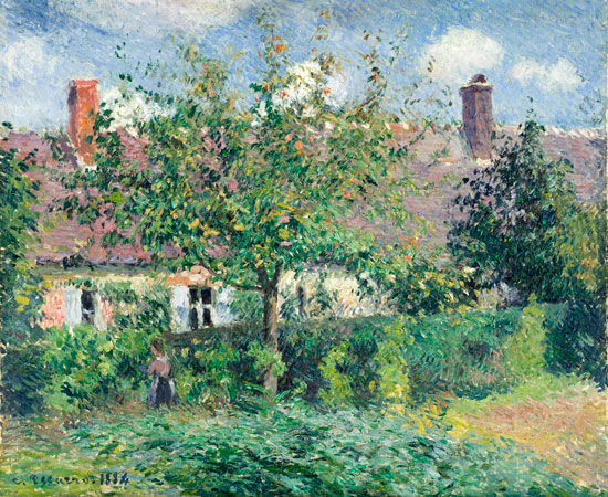 Peasant House at Eragn, Camille Pisarro (18x22)