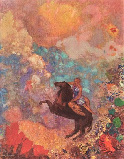 Muse on Pegasus, Odilon Redon (22X28.3)