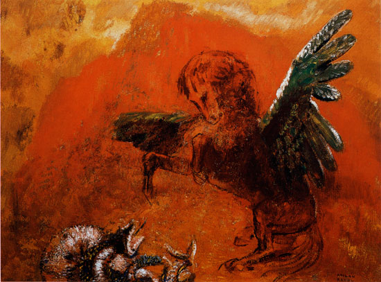 Pegasus and the Hydra , Redon