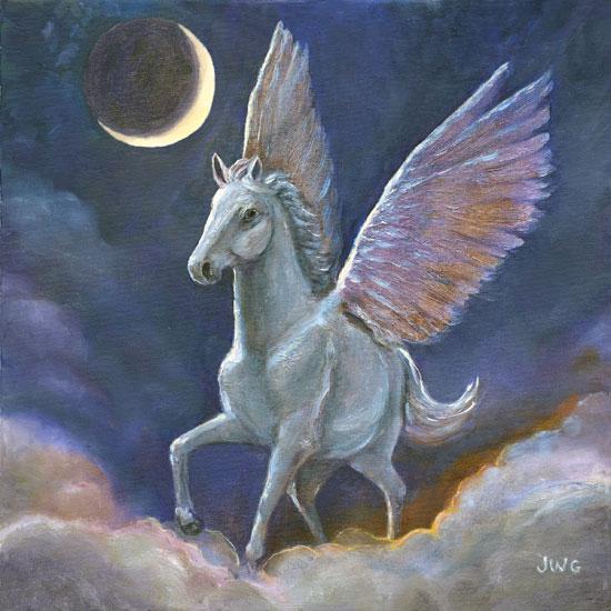 Pegasus - New Moon, Gibson, 16X16