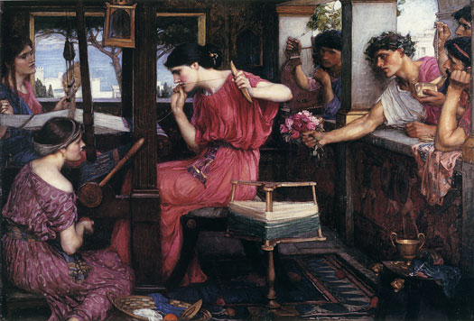 Penelope and Her Suitors, John William Waterhouse