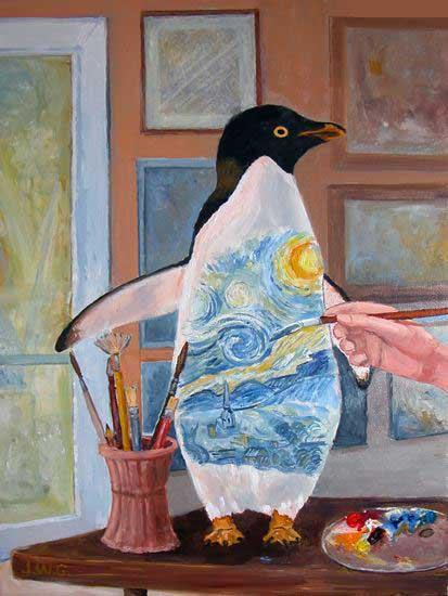 I Think I'll Paint a Penguin