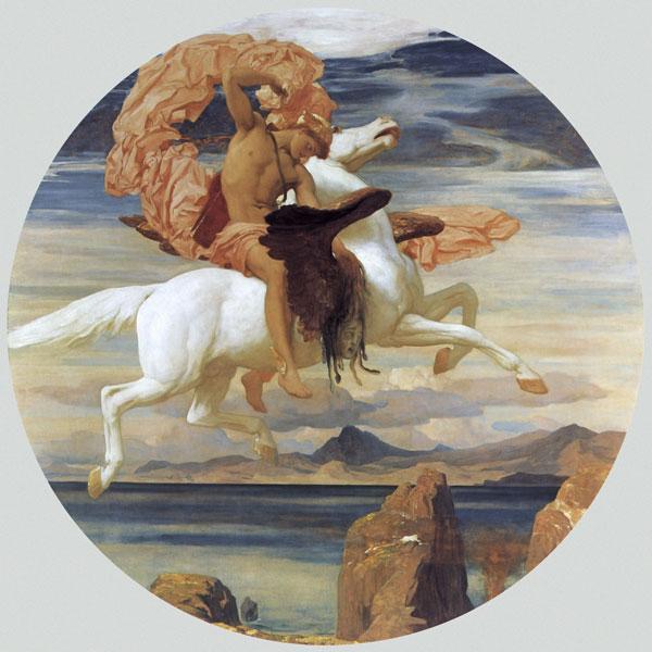 Perseus and Pegasus, Leighton (16X16)