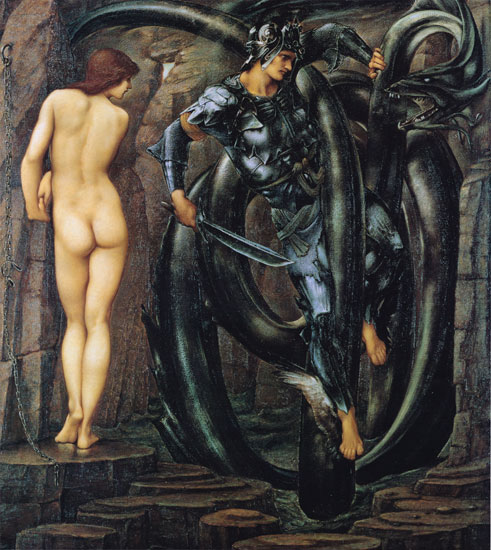 Perseus Slaying the Dragon, Edward Burne-Jones)18X20)