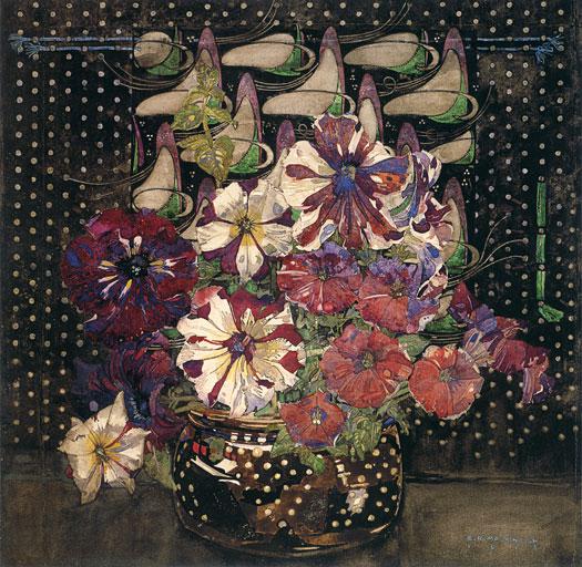 Petunias, Charles Rennie MacIntosh
