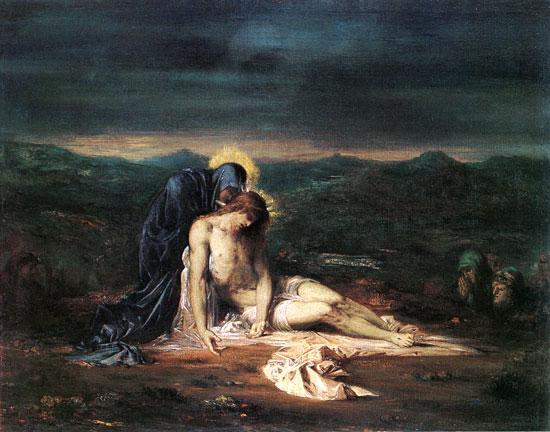 Pieta, Gustave Moreau (22X28)