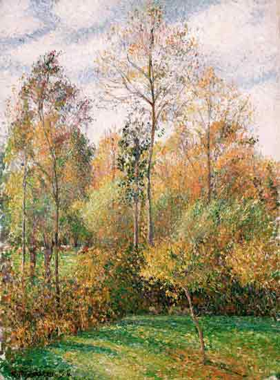 Autumn Poplars, Eragny