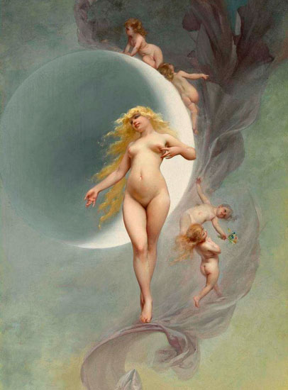 The Planet Venus, Luis Ricardo Falero (16.25x22)