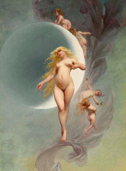 The Planet Venus, Luis Ricardo Falero (16.25x22)