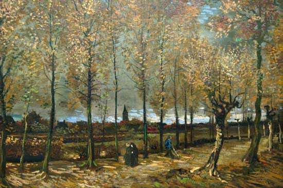 Poplars by Neunen, Vincent van Gogh (22X33)