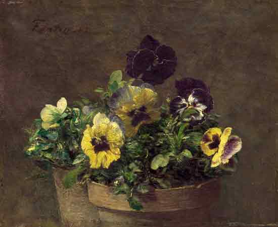 Potted Pansies, Fantin-Latour