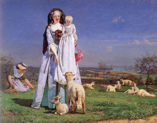 Pretty Baa Lambs, Brown(18X22)