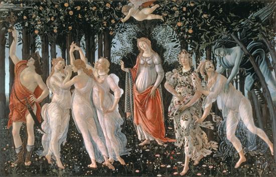 Primavera, Botticelli (24X37.5)