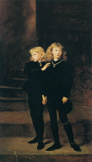 The Princes in the Tower, Millais (16X28)